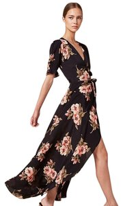 Black floral Maxi Dress by Reformation