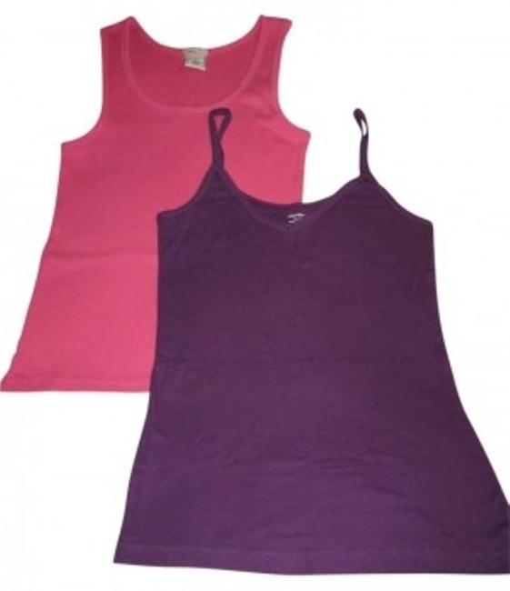 Preload https://img-static.tradesy.com/item/175094/old-navy-pink-and-purple-2-tank-topcami-size-8-m-0-0-650-650.jpg