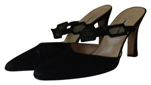 Vanessa Noel Silk Black Pumps