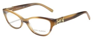 Tory Burch Women's Tory Burch Beige Gold Eyeglasses with Case