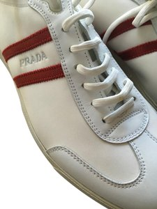 Prada White w two red stripes Athletic
