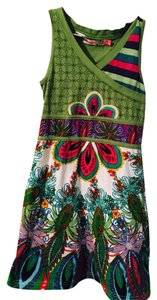 Desigual short dress Green on Tradesy