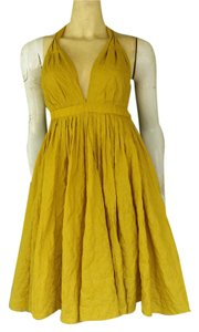 Jean-Paul Gaultier for Target short dress Mustard Pinup Embossed on Tradesy