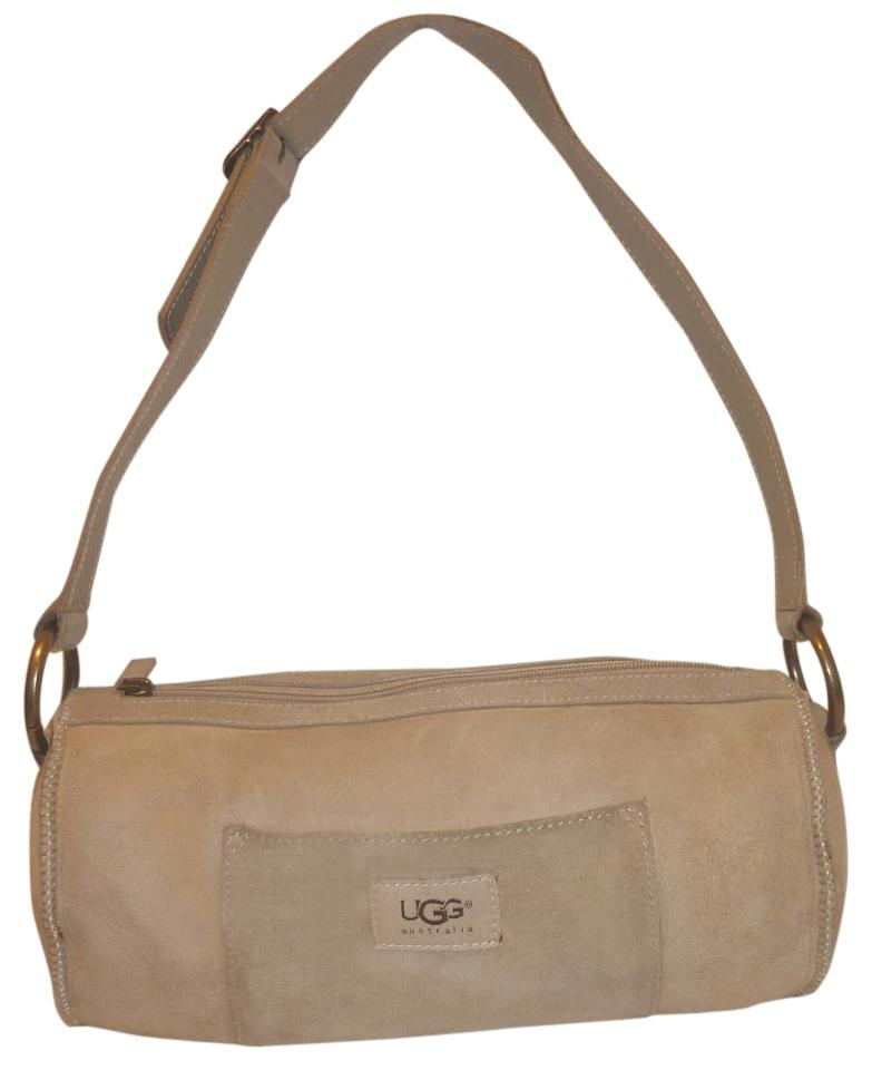hot products various colors 50% price UGG Australia Sheepskin Cream Sheep Suede Shoulder Bag 81% off retail