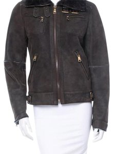 Dolce&Gabbana D&g Shearling Brown Leather Jacket