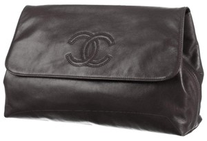 Chanel Classic Timeless Flap Jumbo Black Clutch