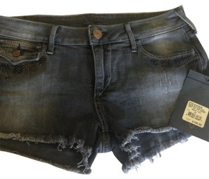 True Religion Cut Off Shorts Gray
