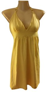 Victoria's Secret short dress Yellow Beach Summer Halter on Tradesy