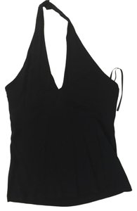 Lauren Ralph Lauren Shelf Bra Black Halter Top