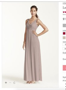 David's Bridal Biscotti F15933 Dress