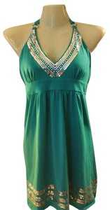 Victoria's Secret short dress Teal Beach Coverup Sexy Halter on Tradesy