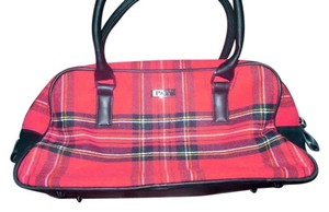 Preston & York Handbag Satchel in red and black plaid