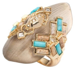 Alexis Bittar Alexis Bittar Beetle Phoenix Lucite Turquoise Jasper Crystal Ring