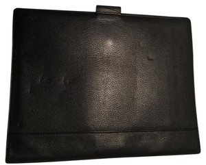 Levenger Document Notebook Supple Tote in Black leather