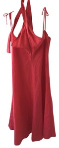 Red Maxi Dress by Max Mara 100% Linen Machine Washable