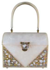 Rialto New York Vintage Crystal 1940s Pearl Clutch