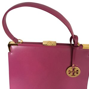 Tory Burch Satchel in Fuschia Pink/Purple