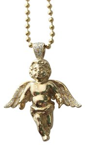 MRLA 14k Yellow Gold Angel Cherub Diamond Necklace