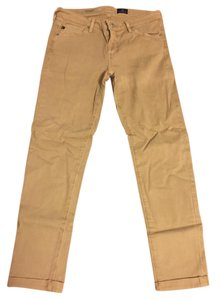 AG Adriano Goldschmied Cropped Roll-up Skinny Jeans-Light Wash