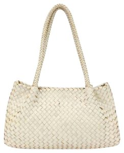 Monsac Original Cream Off-white Woven Weave Braided Shoulder Bag