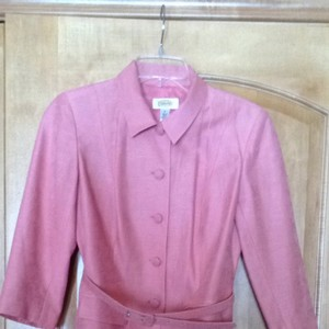 Talbots Coral Silk And Linen Suit