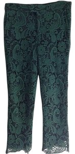 Zara Lace Capri/Cropped Pants green, black