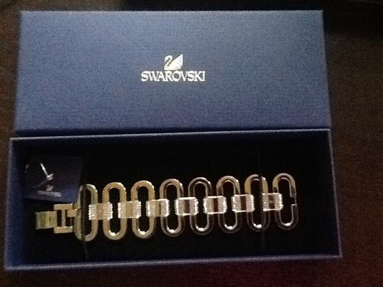 Swarovski Brand new Swarovski Syllable Link Rhodium & Crystal Bracelet