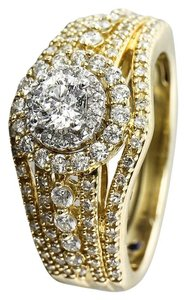 1 Carat Total Weight Diamonds Ladies Yellow Gold Ring