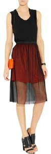Sandro Skirt Black Orange