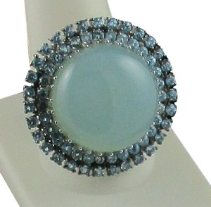 Treasures of India Treasures of India Blue Chalcedony and Sky Blue Topaz Sterling Silver Ring - Size 10