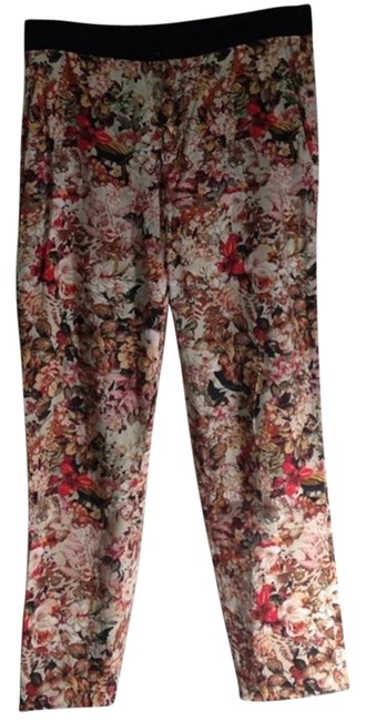 Item - Red White Printed Trousers Small Pants Size 6 (S, 28)