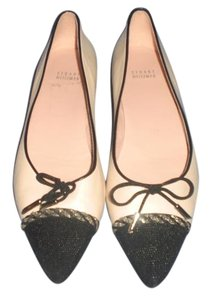 Stuart Weitzman Pointed Toe cream/black Flats