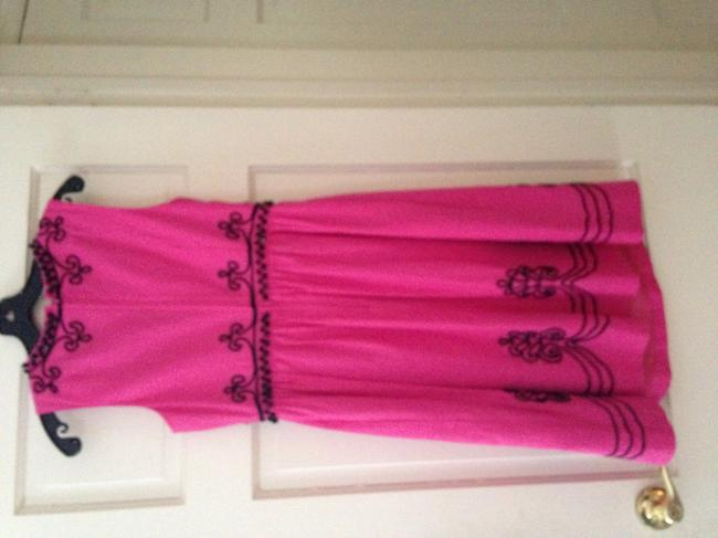 Lilly Pulitzer And Black Beaded Designer Evening Or Day Great Detailing A Line Sleeveless Black Bright Beaded Dress