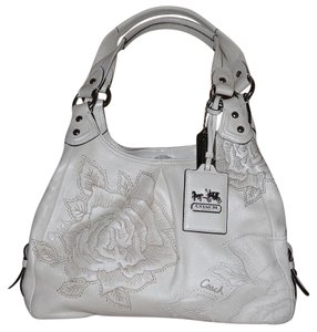 Coach Embroidered Shoulder Bag