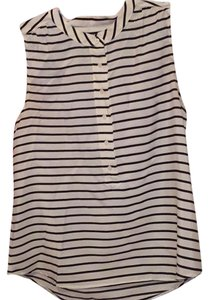 J.Crew Top White and navy blue stripes