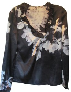 Tahari Top black with silver design