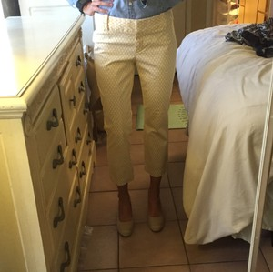 J.Crew Capris Yellow/white