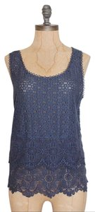 Anthropologie Lace Top BLUE