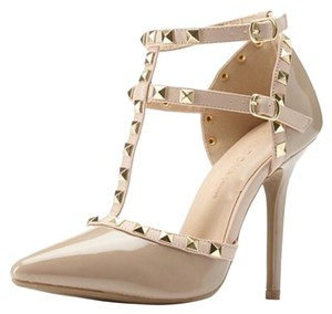 Wild Diva Nude/Gold Pumps