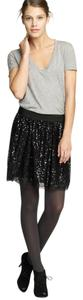 Banana Republic Sequin Mini Party Cocktail New Years Eve Nye Party Halloween Sparkle Cocktail Mini Skirt Black Sequin