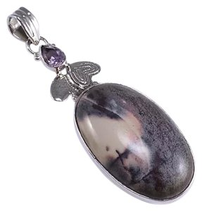 Other New Porcelain Jasper .925 Silver Gemstone Handmade Pendant 2.36
