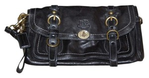 Coach Leather Black Clutch