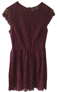 Divided by H&M short dress Maroon Dark Red on Tradesy