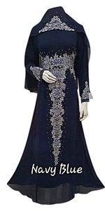 Navy blue Maxi Dress by Rara busana