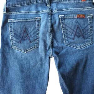 7 For All Mankind Straight Pants Blue