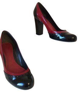 Ann Taylor Black and Red Pumps