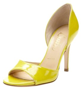 Butter Yellow Patent Pumps