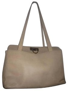 Salvatore Ferragamo Extra Large Size Satchel in Beige