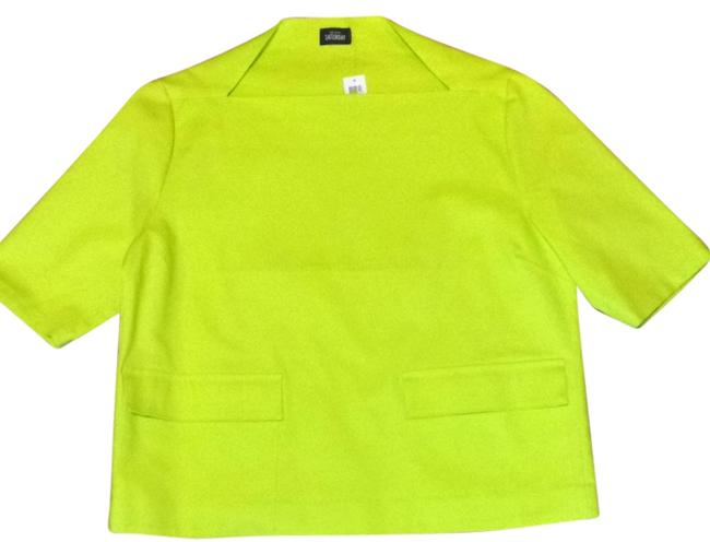 Preload https://item4.tradesy.com/images/kate-spade-chartreuse-flap-pocket-blouse-size-16-xl-plus-0x-1751678-0-0.jpg?width=400&height=650