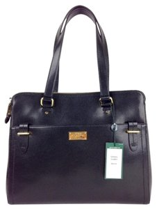 Ralph Lauren Leather Carryall Medium Satchel in black